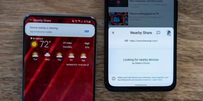 Android's 'Nearby Share' file sharing feature is finally launching