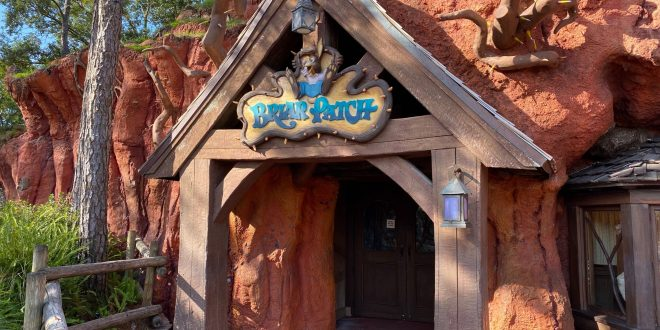 PHOTOS: Splash Mountain Briar Patch Windows Covered at the Magic Kingdom