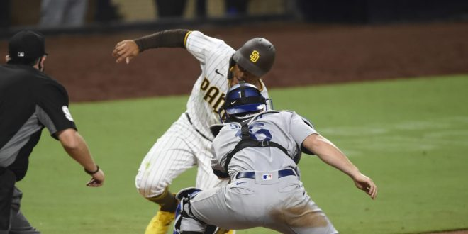 Dodgers 'walk off' in SD on play at the plate