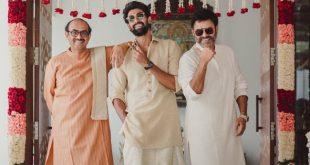 Pic Talk: Rana, Venky, Suresh Babu Go Traditional..