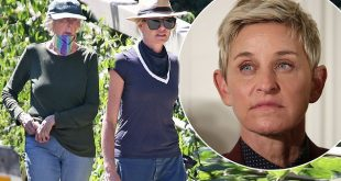 Portia de Rossi seen walking with her mom in Santa Barbara after confirming Ellen show will go on