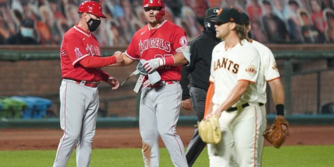 Angels' Joe Maddon says 'enough is enough' as Shaun Anderson nearly hits Mike Trout again