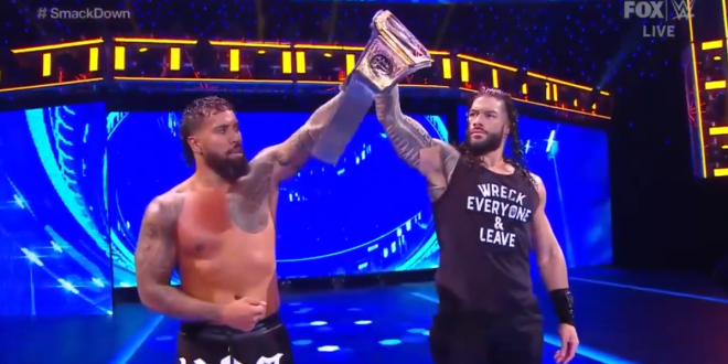 WWE SmackDown results, recap, grades: Roman Reigns teams with Jey Uso, new women's title challenger emerges