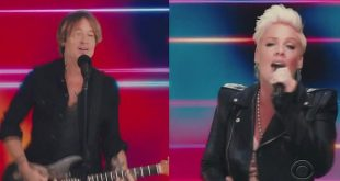 Keith Urban and Pink perform their new collaboration One Too Many for the first time at ACM Awards