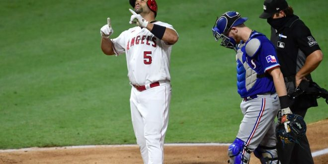 Los Angeles Angels' Albert Pujols passes Willie Mays on all-time home run list