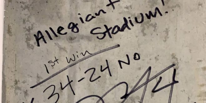 Derek Carr leaves his mark on Allegiant Stadium forever with a signature win