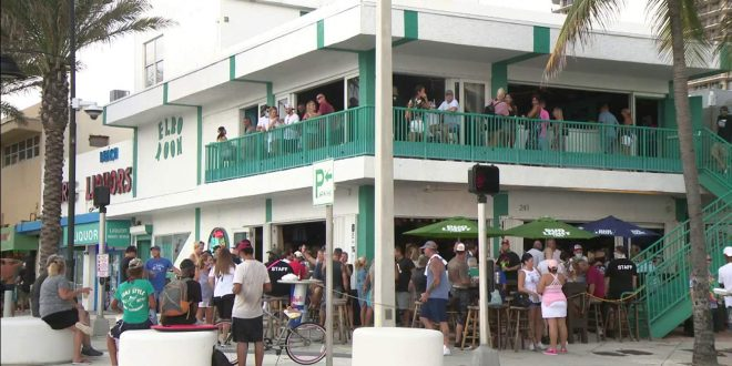 South Florida bars packed after Gov. gives OK for Phase 3 reopening