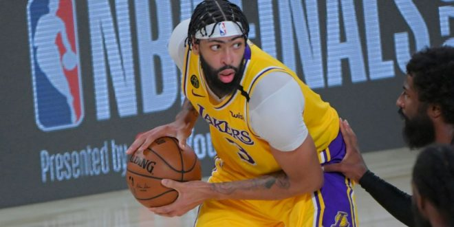 Los Angeles Lakers' Anthony Davis shines in NBA Finals debut but says 'job is not done'