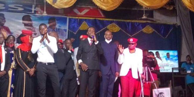 Bobi Wine at Pastor Yiga's Burial