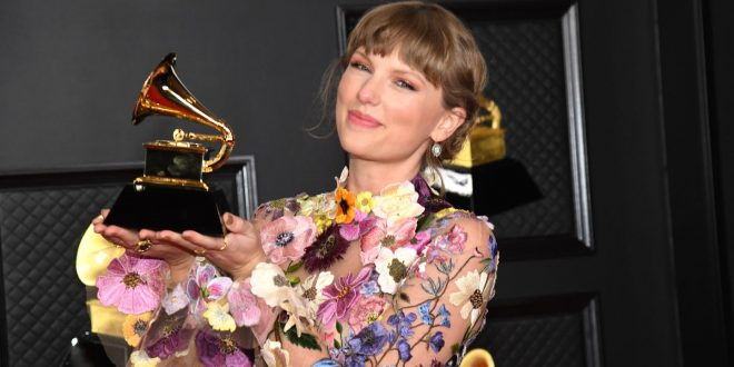 Taylor Swift Thanks The Real-Life James, Inez, And Betty In Album Of The Year Speech
