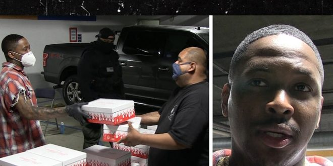 YG Giving Away His $200 Sneakers to Homeless on Skid Row
