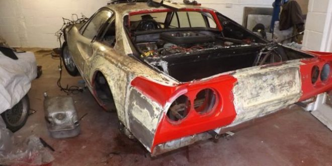 Ferrari found in mud to be auctioned