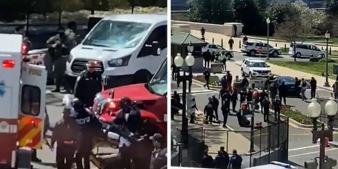 U.S. Capitol on Lockdown After Car Hits 2 Cops, Suspect and 1 Cop Dead