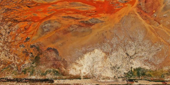 This Isn't a Piece of Art. It's an Aerial View of a Trash-Filled Landscape