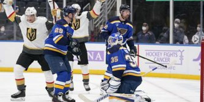 Blues drop seventh straight, 6-1 to Golden Knights