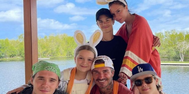 Beckham's put on giddy display with matching Easter outfits after £500 surprise