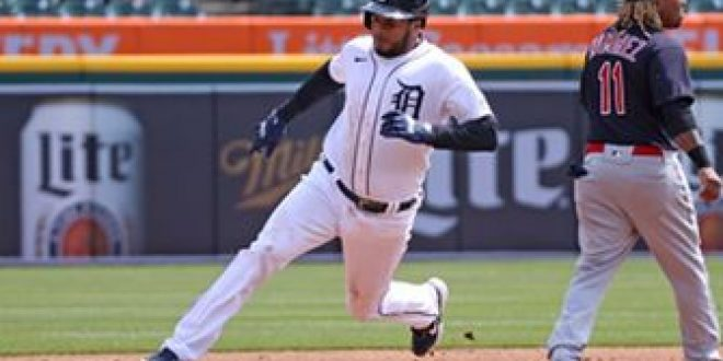 Jeimer Candelario registers three hits and an RBI in Tigers 5-2 win over Indians
