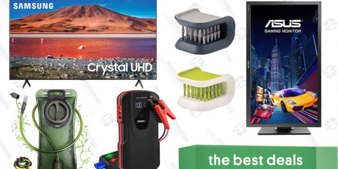 Saturday's Best Deals: Samsung 70″ 4K TV, Asus Gaming Monitor, Cutlery Brushes, 2L Hydration Bladder, Grepro Jump Starter, and More