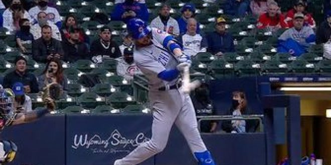 Kris Bryant cranks solo homer to give Cubs a 1-0 lead over Brewers