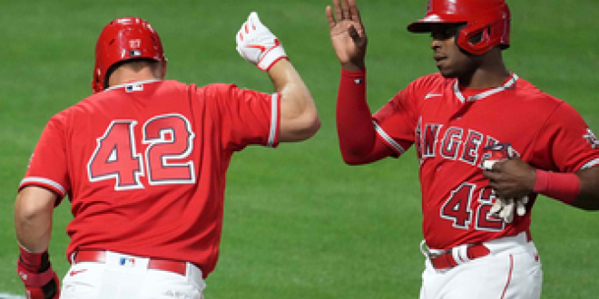 Mike Trout and Justin Upton lead the hit parade in Angels' 10-3 victory over Twins