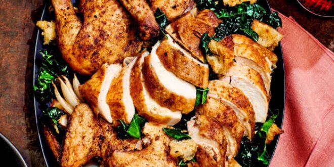 Spice-Rubbed Butterflied Roast Chicken