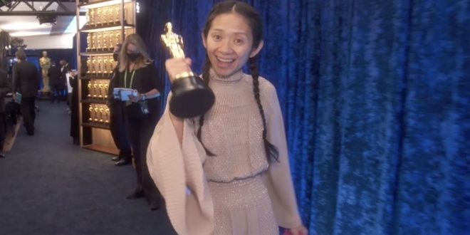Nomadland Wins Best Picture — Chloé Zhao Shouts Out 'The Power Of Resilience And Hope'