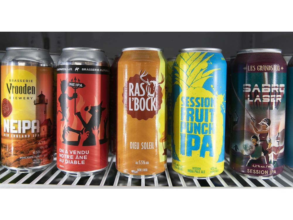 MONTREAL, QUE.: APRIL 23, 2021 — Dépanneur Bière Froide Cold Beer boasts a Quebec-only inventory of speciality microbrews, wines and cider.