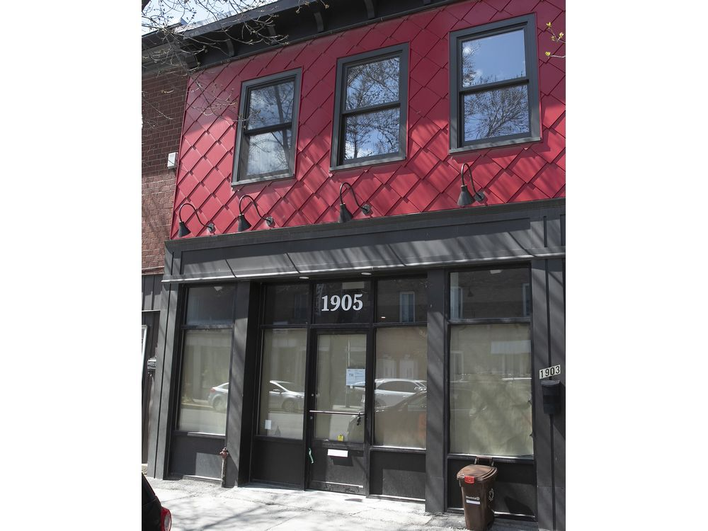 MONTREAL, QUE.: APRIL 23, 2021 — The outside of dépanneur Bière Froide Cold Beer, set to open in Pointe-Saint-Charles on April 27, 2021.
