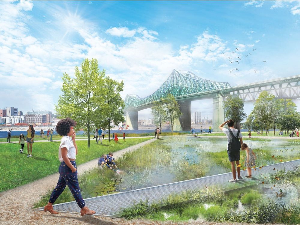 Montreal wants to highlight the park's natural beauty and proximity to the St. Lawrence River.