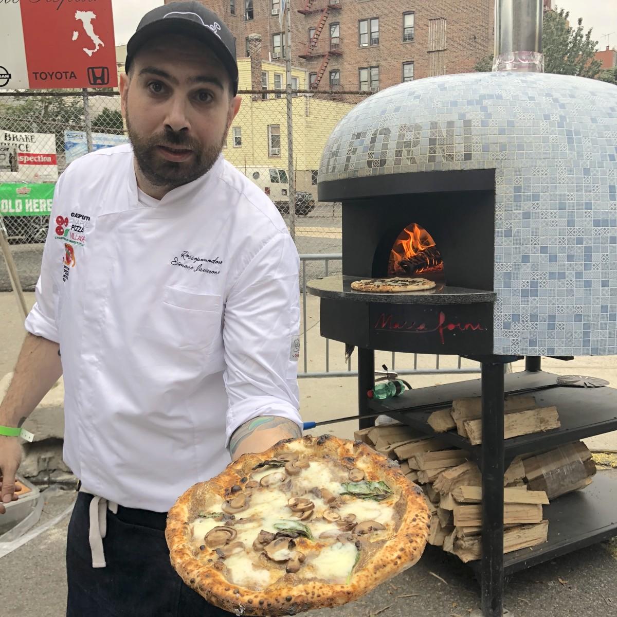 Scene from the 2019 New York Pizza Festival.