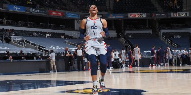 Russ ties triple-double record, seals win for Wiz