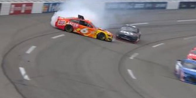 Ryan Newman spins out at Richmond after making contact with Austin Cindric