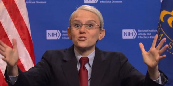 'SNL' Mocks Dr. Fauci in Hilarious Skit Over Mask-Wearing Confusion