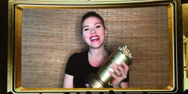Scarlett Johansson Gets Slimed By Colin Jost At The MTV Movie & TV Awards
