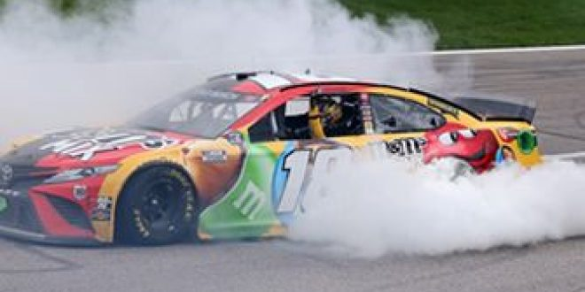 FINAL LAPS: Kyle Busch gets his first win of the year on his birthday at Kansas