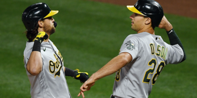 Athletics hit four homers in 8-4 win over Angels