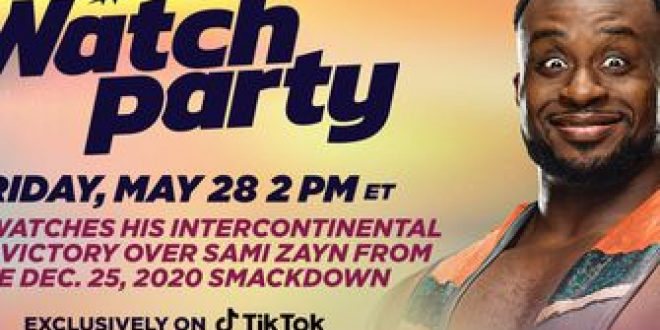 Join Big E live on TikTok for a WWE Watch Party this Friday