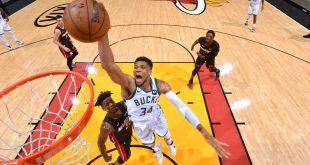 Giannis, Bucks stifle Heat with D to finish sweep