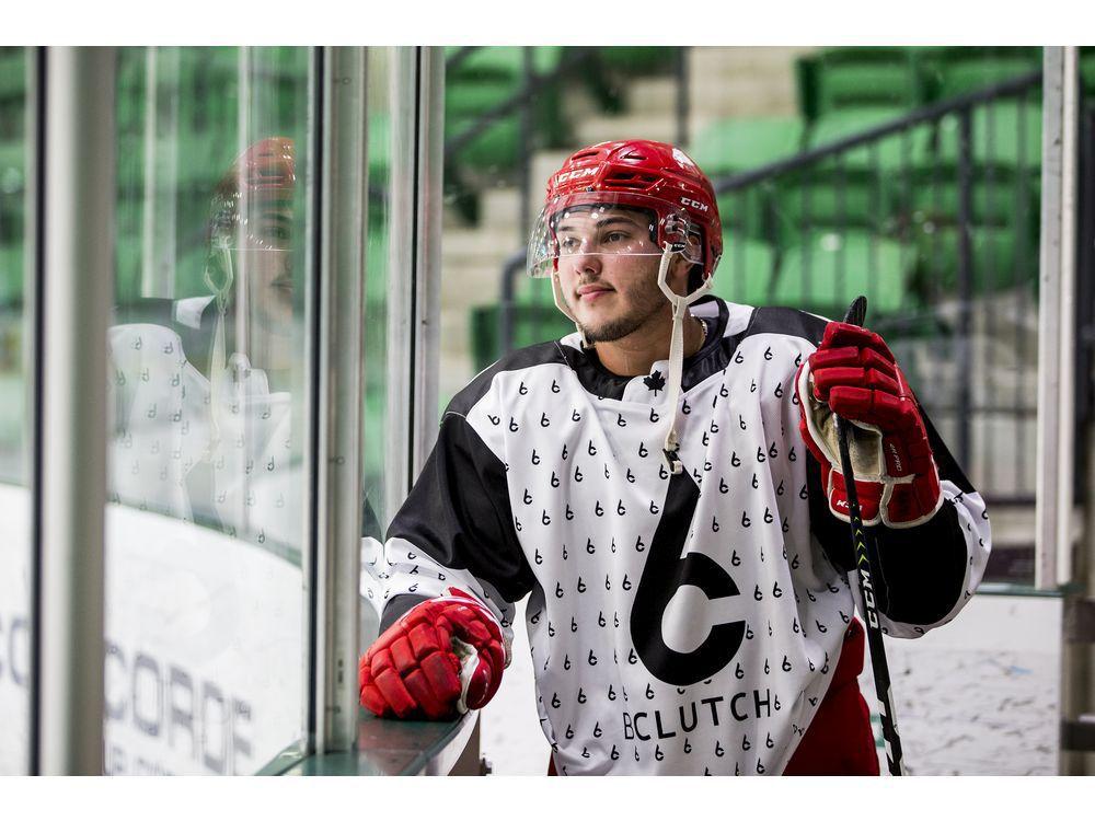 Kaleb Dahlgren, shown in 2019, has announced his retirement from hockey.