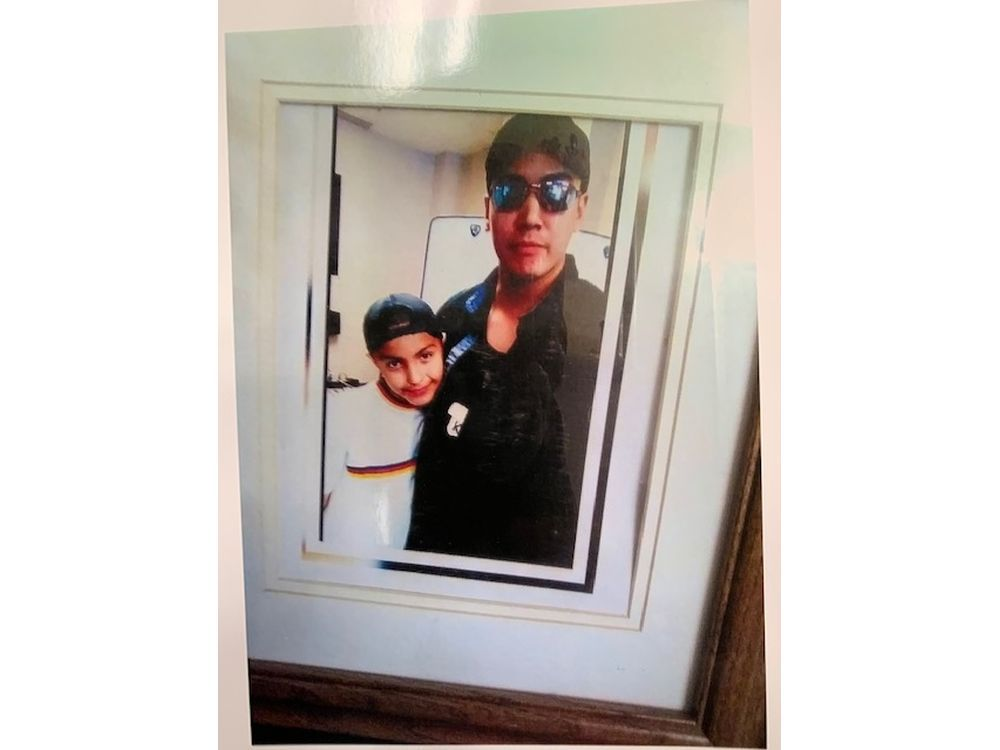 Kevin Nataucappo and his 11-year-old son, Michael. (Photo provided)