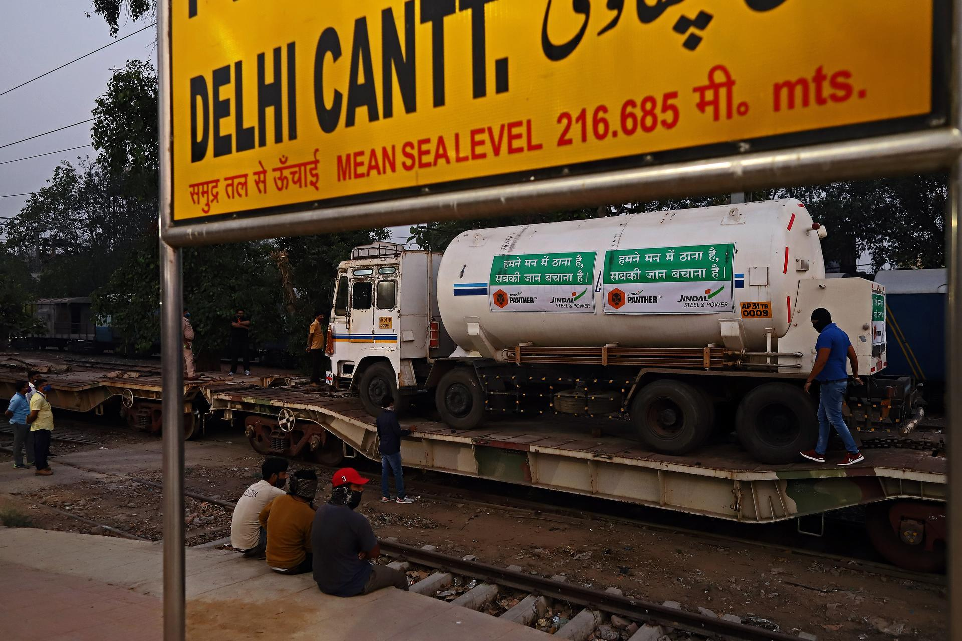 Indian authorities are using the country's vast railway network to transport oxygen across the country. Bloomberg
