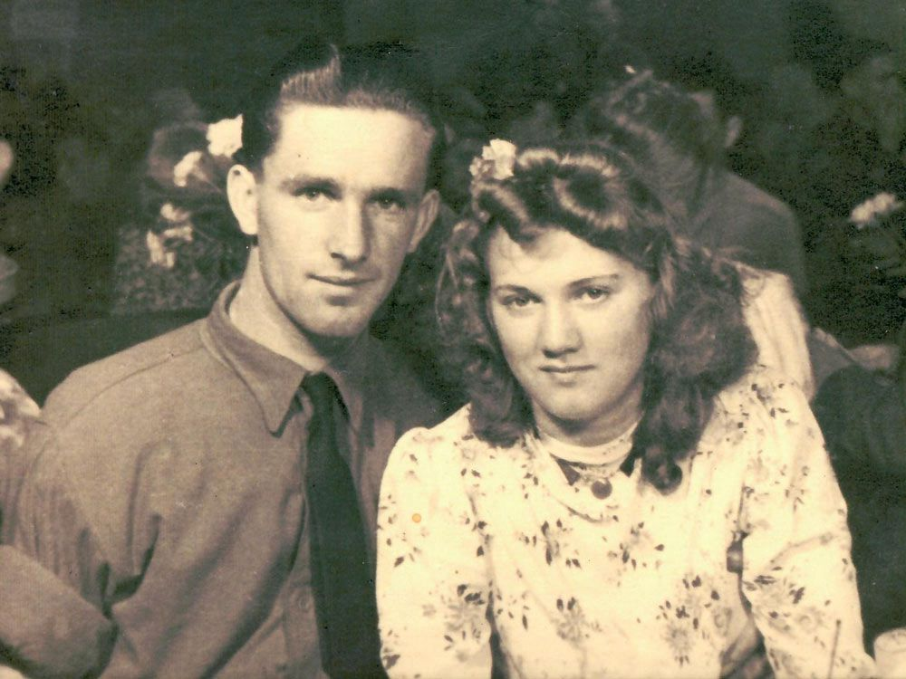 George Dettling and Elizabeth Schutte, both 21, after meeting at a Second World War Victory party in Amsterdam in May 1945.