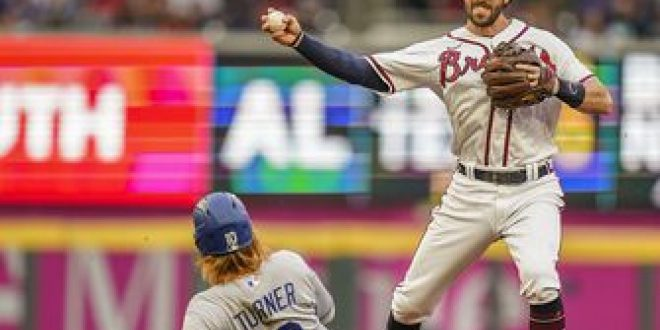 Braves overcome four-error defensive performance to defeat Dodgers, 6-4