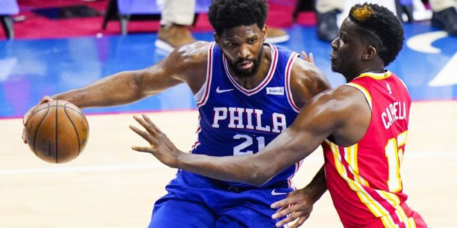 Embiid shakes off MVP loss, drops 40 in G2 win