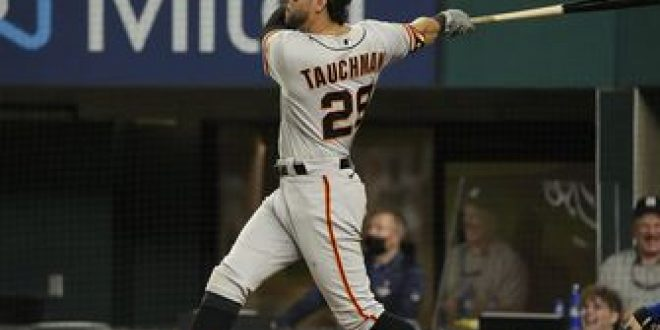Mike Tauchman belts grand slam for Giants in 9-4 win over Rangers