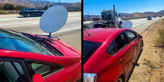 You Can't Just Slap a Starlink Dish Onto Your Car, California Motorist Finds Out