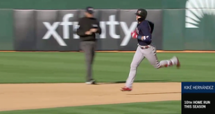 Kiké Hernandez launches a solo shot to left, Red Sox extend lead to 4-2
