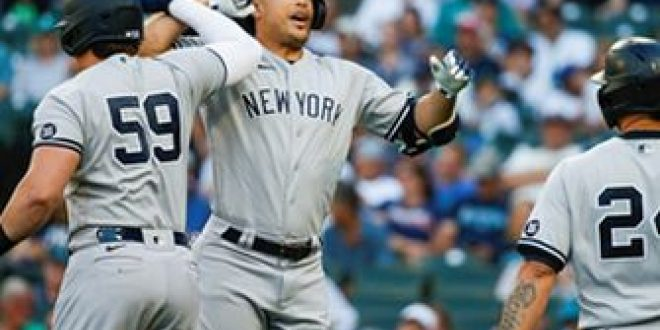 Giancarlo Stanton three-run homer sets tone in Yankees' 12-1 blowout win over Mariners