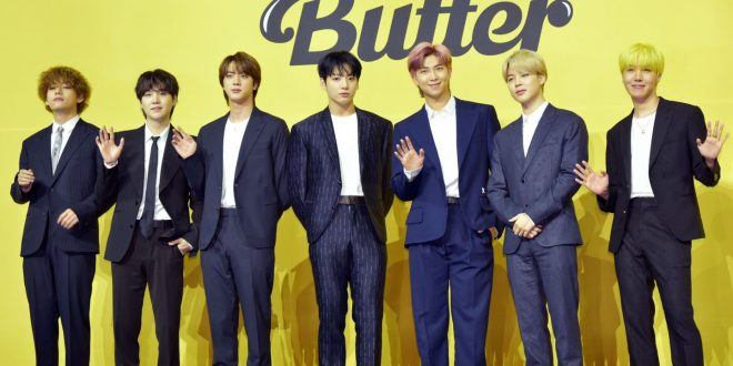 BTS Will Make You Sweat Like That Performing 'Butter' On A Massive Bridge
