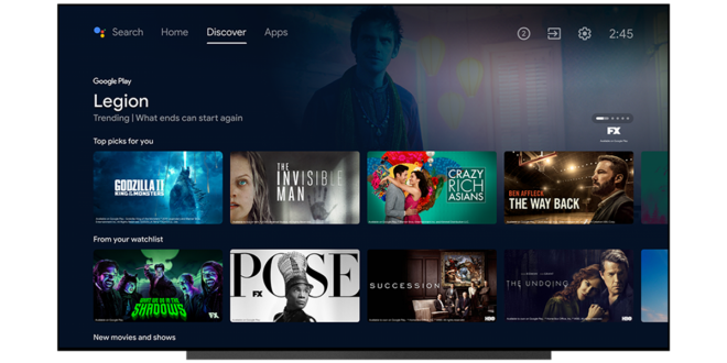 Google Is Giving Android TV a New Watchlist and an Improved Recommendation System